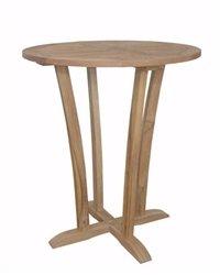 Anderson Teak Patio Lawn Garden Furniture Descanso 35 Round Bar Table