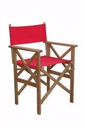 Anderson Teak Patio Lawn Garden Furniture Director Folding Armchair w Canvas