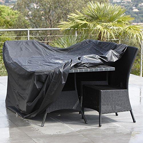 Rectangular Patio Furniture Covers Waterproof Outdoor Lawn Garden Furniture Table Rattan Chair Sofa Rain Cover Shelter Polyester PVC 120cm X 120cm X 74cm 1 Pcs