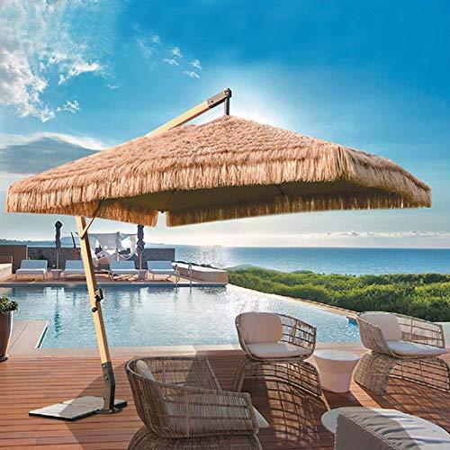 Eanpet Grand Patio Umbrella Thatch Luau Hawaiian Tropic Decoration Outdoor Beach Umbrella Large Canopy Sun Shelter Adjustable Umbrella Stand Hanging Umbrella 8