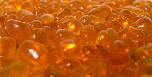 American Fireglass Fireplace and Fire Pit Glass  Crystal Orange Eco Fireglass 5-Pound