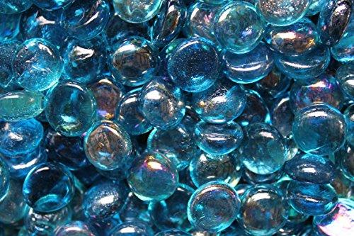 Fireglass Fire Beads Fireplace Glass and Fire Pit Glass 10-pound Aqua Blue Luster