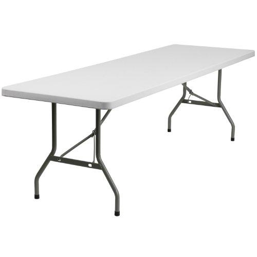 Flash Furniture 8-Foot Granite White Plastic Folding Table