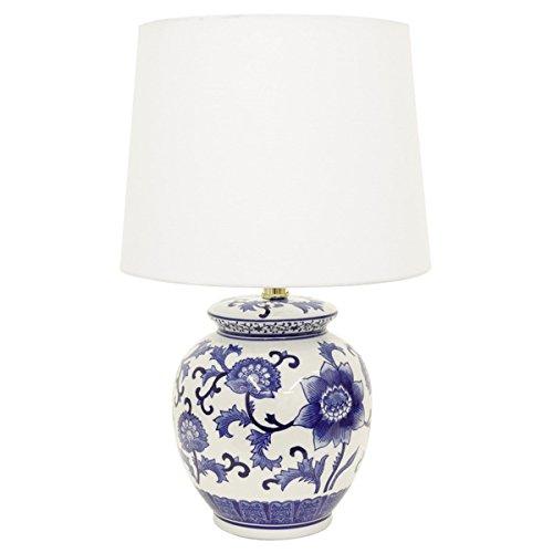 Decor Therapy BlueWhite Ceramic Table Lamp
