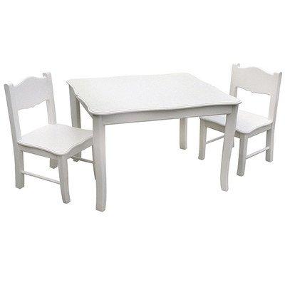 Viv  Rae Matilda Kids 3 Piece Square Table and Chair Set White