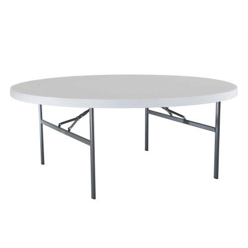 Lifetime 22673 Folding Round Table 6 Feet White-granite
