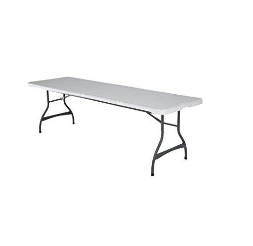 Lifetime 22984 Folding Utility Table 8 Feet Almond