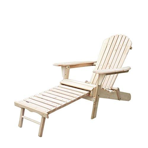 Bestmart Inc Folding Wooden Adirondack Chair Outdoor Furniture Beach Patio Deck Garden D&eacutecor Seat With Foot Rest