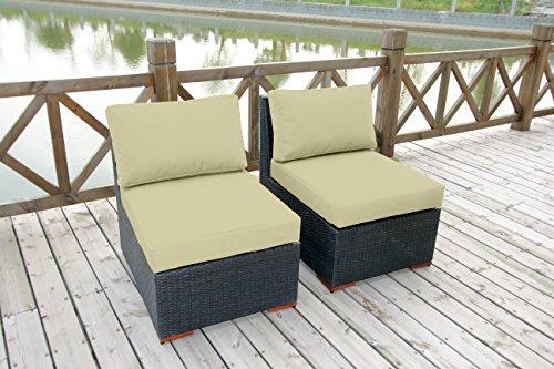 Bhg Cibo Armlessslipper Chair Featuring Sunbrella Fabric 2 Pack Canvas Vellum