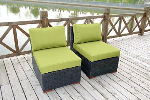 Bhg Cibo Armlessslipper Chair Featuring Sunbrella Fabric 2 Pack Spectrum Kiwi