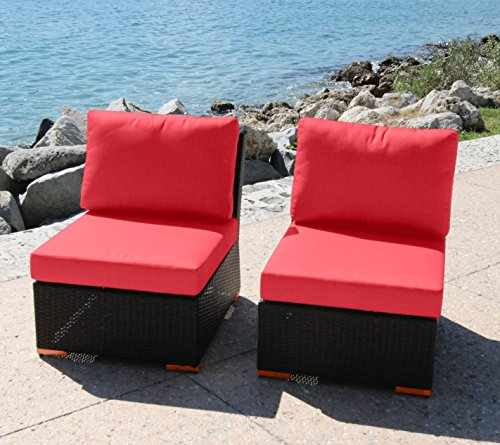 Bhg W921722a136 Angelique Armlessslipper Chair 2 Pack Dura-fast Red