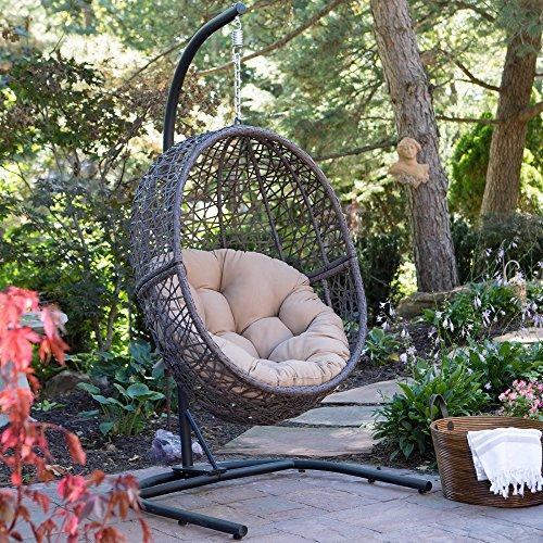 Hanging Chairhammock Standoutdoor Swing Wicker Egg Air Chairlounge Chairpatio Swingporch Swingwicker Patio