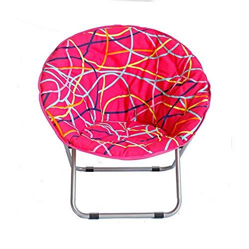 Axdwfd Recliner Chair Chair Radar Adult Household Folding Chair Moon Chair Sun Lounger Chair Circle Chair Sofa Chair 75x78x35cm Color  Pink