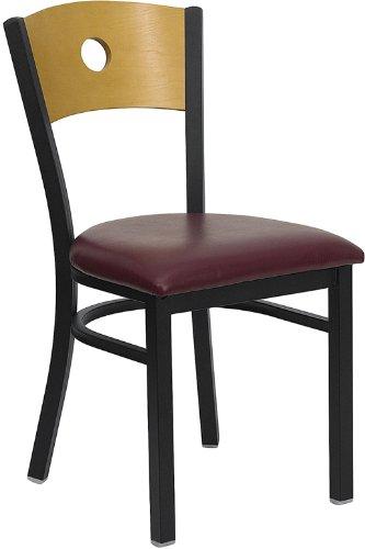 BkNat Circle Chair-Burg Seat 1675W x 215D x 3275H