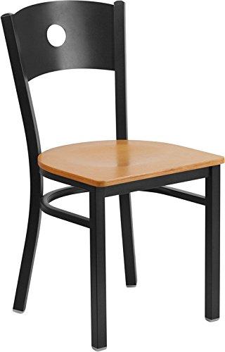 Black Circle Chair-Nat Seat 1725W x 2025D x 325H