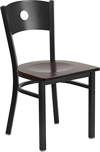 Black Circle Chair-Wal Seat 1725W x 2025D x 325H