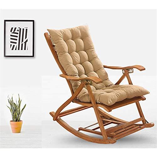 Garden Chair Cushion for High Back Chair Cushion for Outdoor High Back Chair Cushion Recliner Garden Chair Pad with Soft Foam Elastic Straps Core Natural 130x48x6cm4
