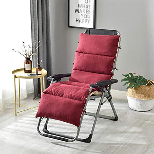 Garden Chair Cushion for High Back Chair Cushion for Outdoor High Back Chair Cushion Recliner Garden Chair Pad with Soft Foam Elastic Straps Core Natural 175x50x12cm3