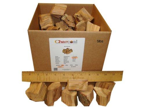 Charcoalstore Peach Wood Smoking Chunks 5 Pounds