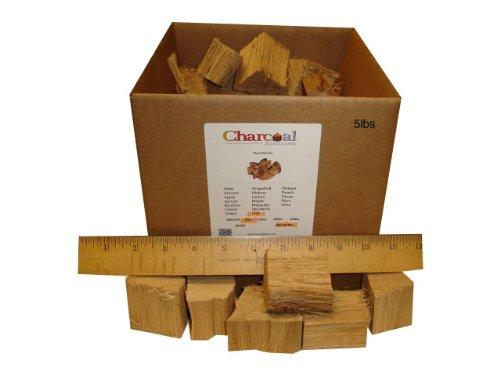 Charcoalstore White Oak Wood Smoking Chunks - No Bark 5 Pounds