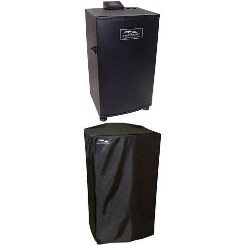 masterbuilt 30inch black electric digital smoker top controller and cover bundle