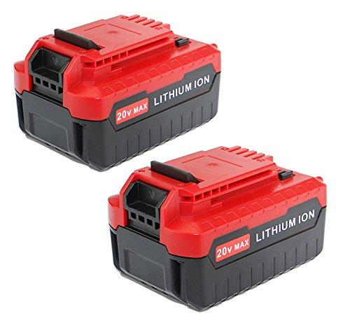 efluky 40Ah 2Pack 20-volt MAX Lithium Ion Replacement Batterty for PORTER CABLE PCC685L PCC680L PCC682L PCC685LP