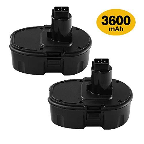2 Packs 18V 36Ah DC9096 Battery Replacement for Dewalt 18V Battery XRP DC9096 DC9098 DC9099 DE9098 DE9503 DW9095 DW9096 DW9098 Cordless Power Tools