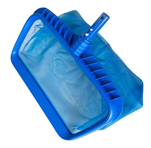 Sharkblu Supplies Swimming Pool Leaf Rake Heavy Duty Pool Maintenance With Deep Mesh Net And Basket Blue