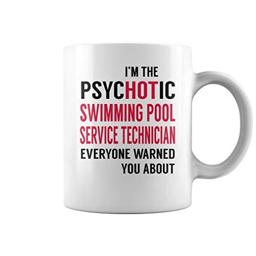 PsycHOTic Swimming Pool Service Technician Job Title Mug - Coffee Mug White