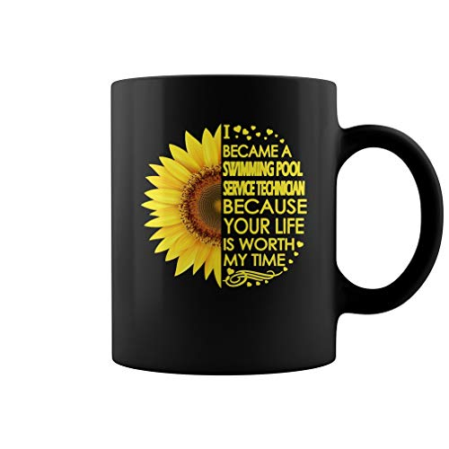 Swimming Pool Service Technician Sunflower Mug