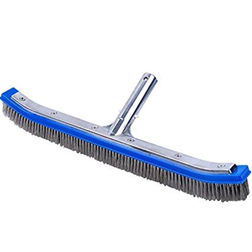 Heavy Duty Pool Brush Premium 18&quot Aluminium Swimming Pool Cleaning Brush By Aquatix Pro With Stainless Steel Bristles