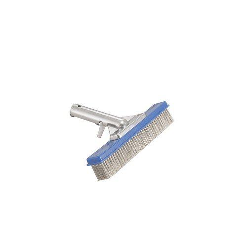 Pool Style Ps316 Stainless Steel Algae Brush 10&quot25cm - Black Bristles With Alumium Handle