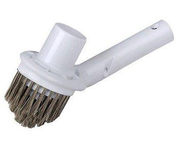 Poolamp Spa Stainless Steel Bristle Corner Algae Brush With Vacuum Head Combo