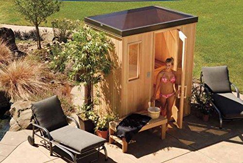 Finlandia Outdoor Sauna 4 x 4 with Starline Skylight Roof