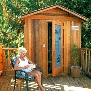 Finlandia Outdoor Sauna 6 x 8 with Roof Kit