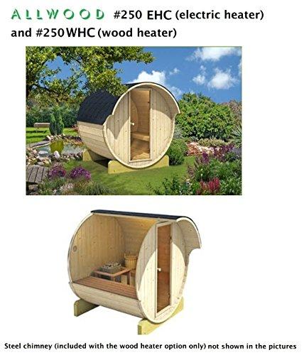 Allwood Barrel Sauna #250-ehc ** Electric Heater **