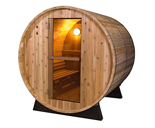 Almost Heaven Saunas 4-person Pinnacle Barrel Sauna (rustic Cedar)