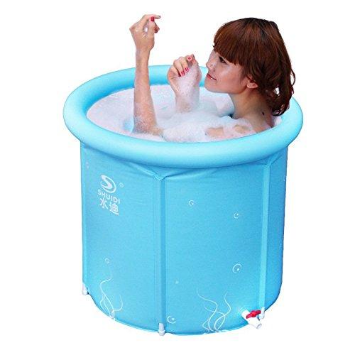 Large Folding Sauna/adult/plastic Shower Bath Barrel Barrel/8080cm , Blue