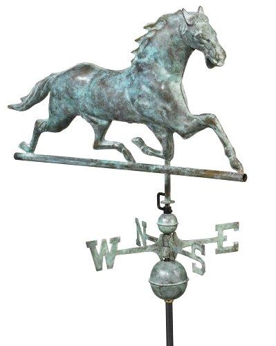 Good Directions 580v1 Large Horse Weathervane Blue Verde Copper