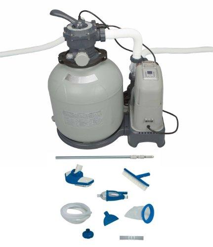 Intex 2650 GPH Sand Filter Pump Saltwater System Set w Deluxe Maintenance Kit