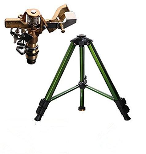 Linksolar Tripod Base With Garden Brass Impact Impluse Sprinkler Adjustable 0&deg To 360&deg Patternarea Coverage-up