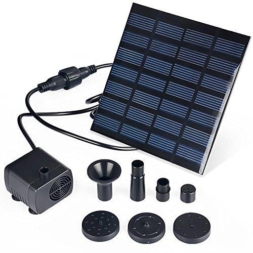 Aerwo 1.4w Solar Pump For Water Fountain, Solar Powered Panel Kit Pool Garden Watering Submersible Pump,birdbath