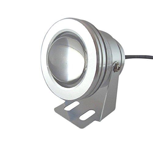 ELINKUME 10W Waterproof LED Underwater Spot Light for Landscape Fountain Pond Pool Tank Cool White