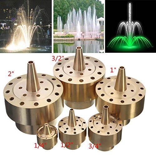 Kisstaker Garden Landscape Fountain Nozzle Fireworks Shape Brass Fountain Spray Head 12 Inch