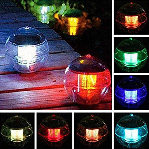 Oagtech Solar Power Waterproof Colorufl Led Floating Light Garden Fountain Landscape Lamp
