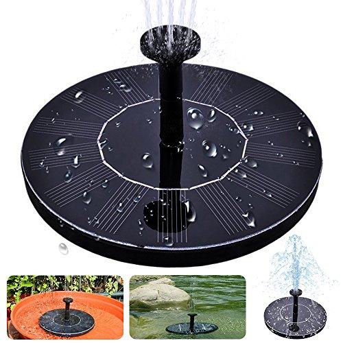 Solar Bird Bath Fountain maxin Free Standing 14W Solar Panel Kit Water Pump Outdoor Watering Submersible Pump for Bird BathFish TankSmall Pond Garden Decoration