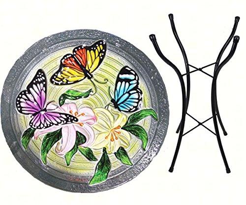 Songbird Essentials SE5018 Butterfly Trio Bird Bath with Stand
