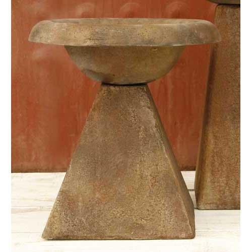 Orlandistatuary Fs8401 Modern Birdbath Sculpture 17&quot Sandstone Finish