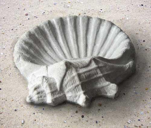 Orlandistatuary Fs8528 Shell Birdbath Sculpture 15&quot W Weather Finish