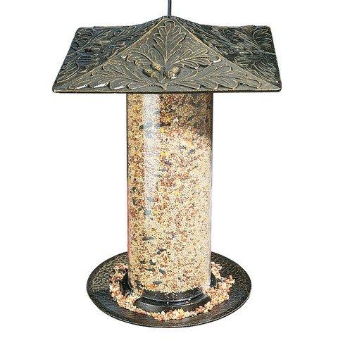Whitehall Products 30417 12 In Oakleaf Bird Tube Feeder - French Bronze